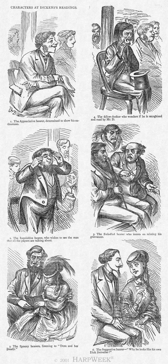 """Characters at Dickens's Reading"""