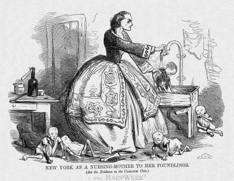 """New York as a Nursing-Mother to her Foundlings"""