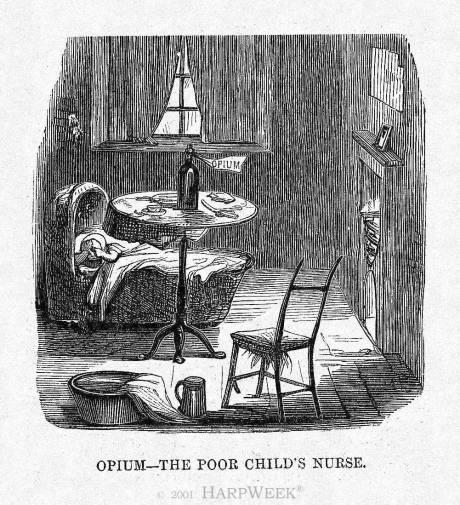 """Opium—the poor child's nurse"""
