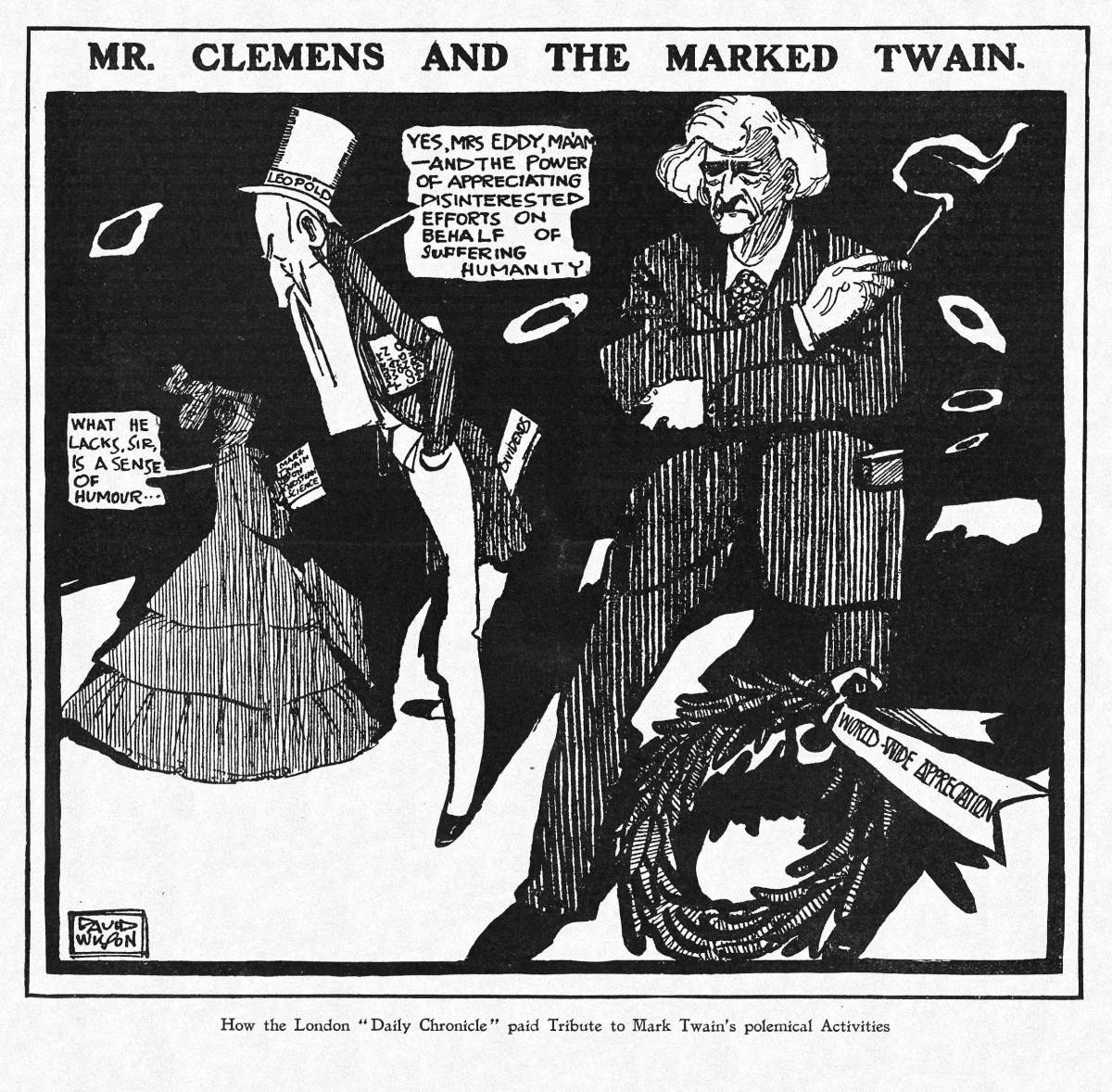"""Mr. Clemens and the Marked Twain"""