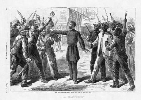 """The Freedmen's Bureau"":http://www.harpweek.com/09Cartoon/BrowseByDateCartoon-Large.asp?Month=July&Date=25"