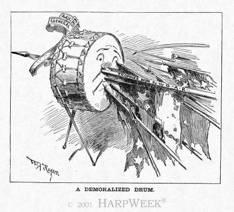 HarpWeek Cartoon of the Day - The Demoralized Drum