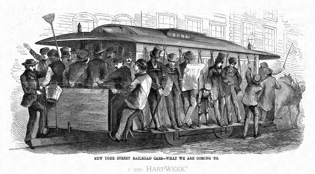 """New York Street Railroad Cars - What We Are Coming To"""