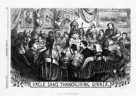 """Uncle Sam's Thanksgiving Dinner"""